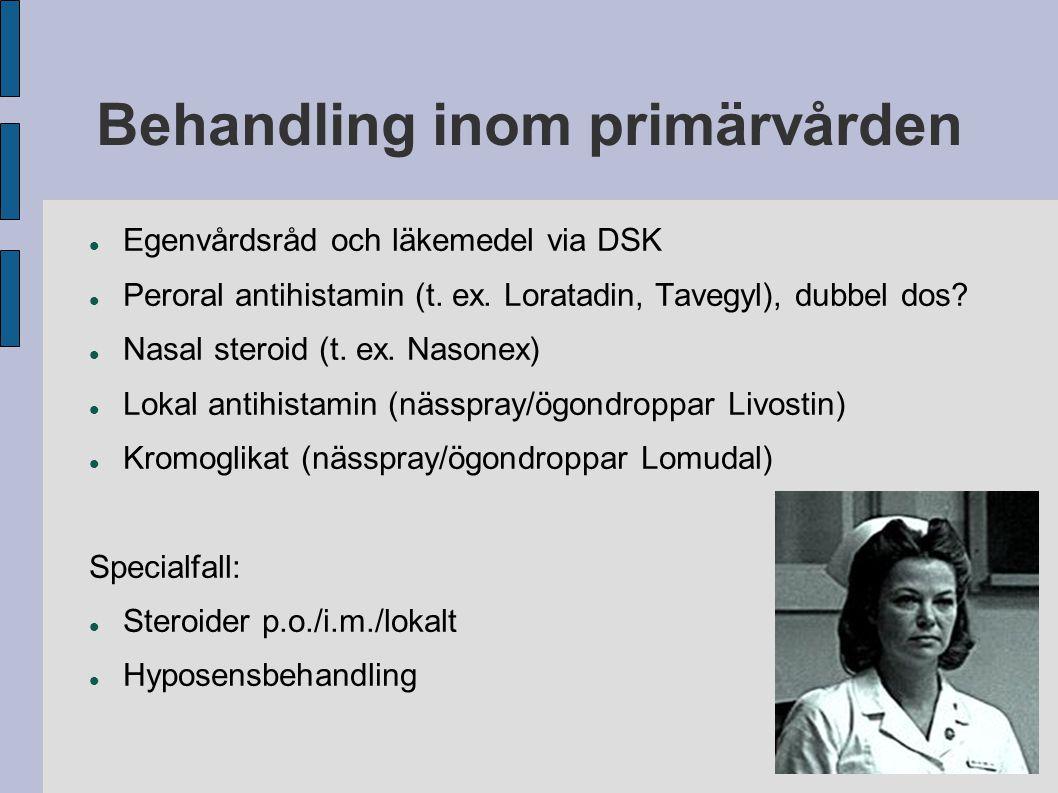 Behandling inom primärvården