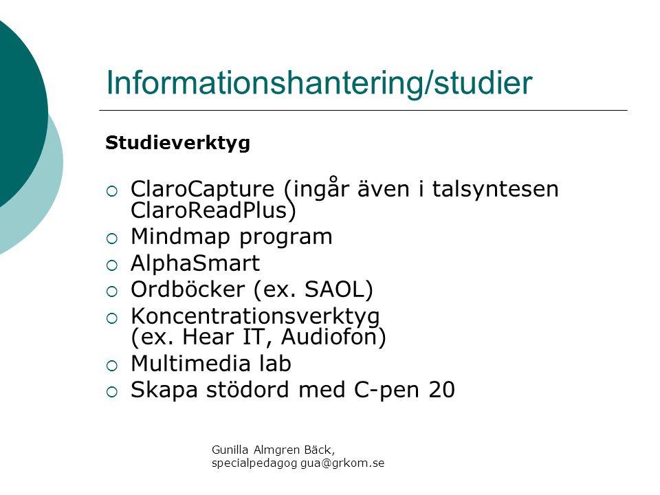 Informationshantering/studier