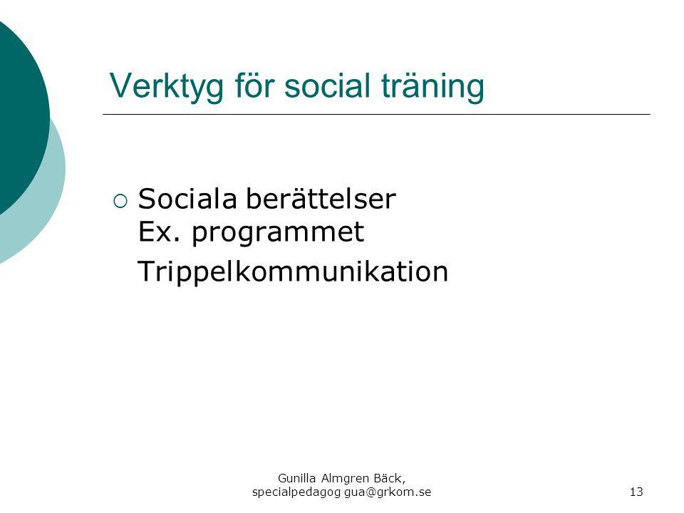 Verktyg för social träning