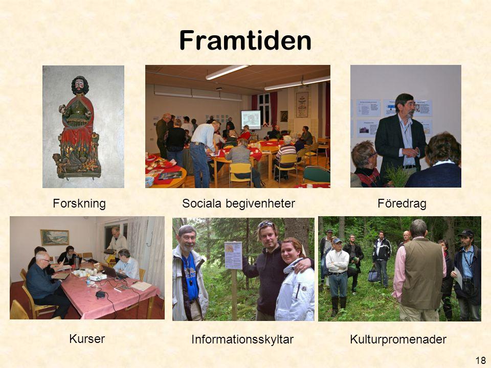 Framtiden Forskning Sociala begivenheter Föredrag Kurser