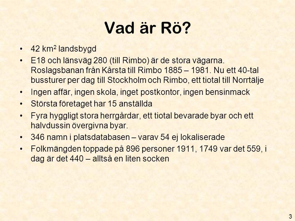Vad är Rö 42 km2 landsbygd.