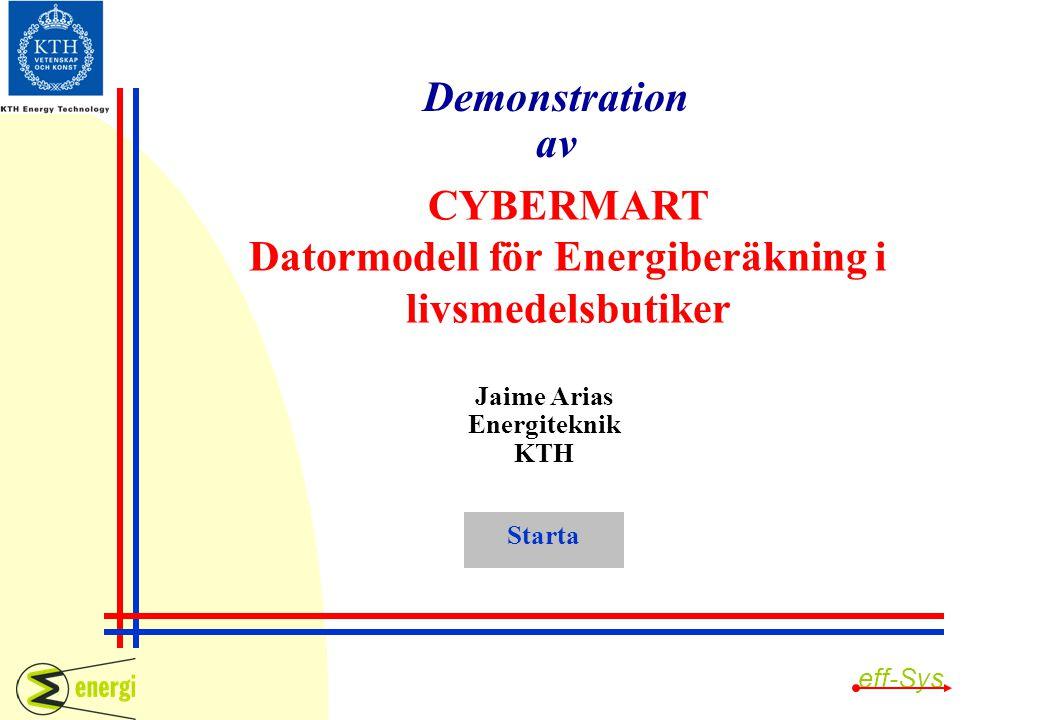 Datormodell för Energiberäkning i livsmedelsbutiker