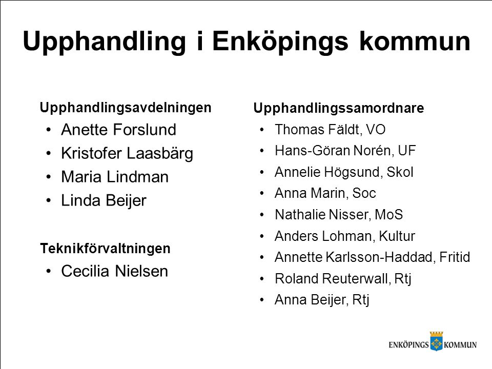 Upphandling i Enköpings kommun