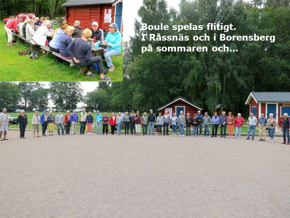 Boule spelas flitigt. I Råssnäs och i Borensberg på sommaren och…