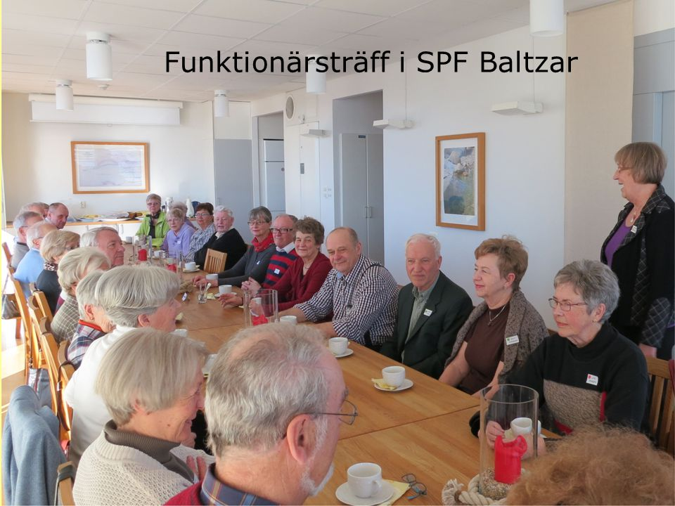 Funktionärsträff i SPF Baltzar