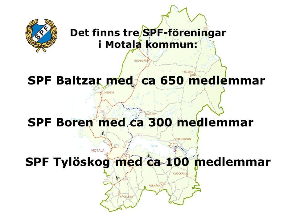 Det finns tre SPF-föreningar i Motala kommun: