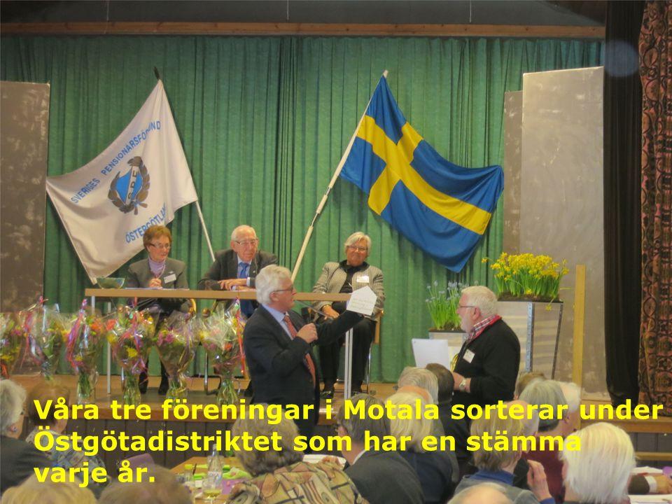 Våra tre föreningar i Motala sorterar under Östgötadistriktet som har en stämma varje år.