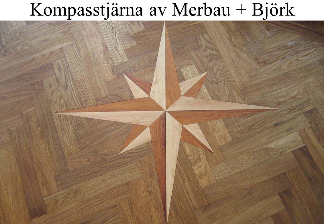 Kompasstjärna av Merbau + Björk