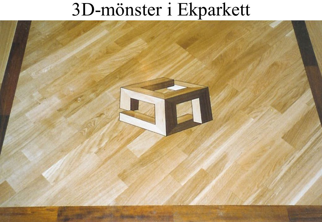 3D-mönster i Ekparkett