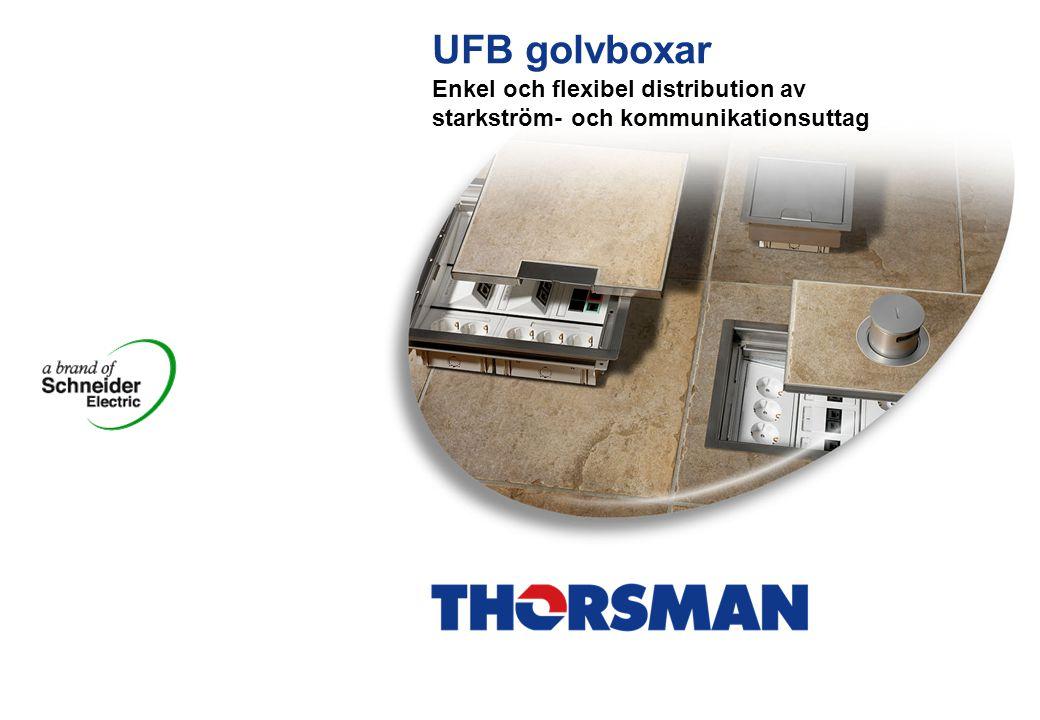 UFB golvboxar Enkel och flexibel distribution av starkström- och kommunikationsuttag 1