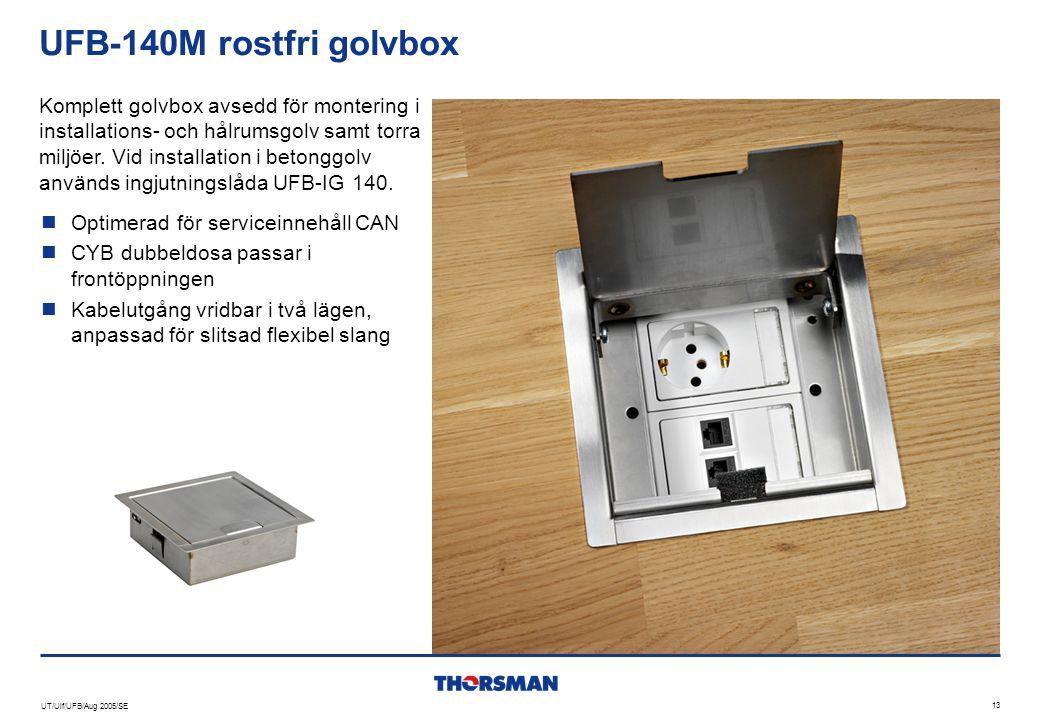 UFB-140M rostfri golvbox