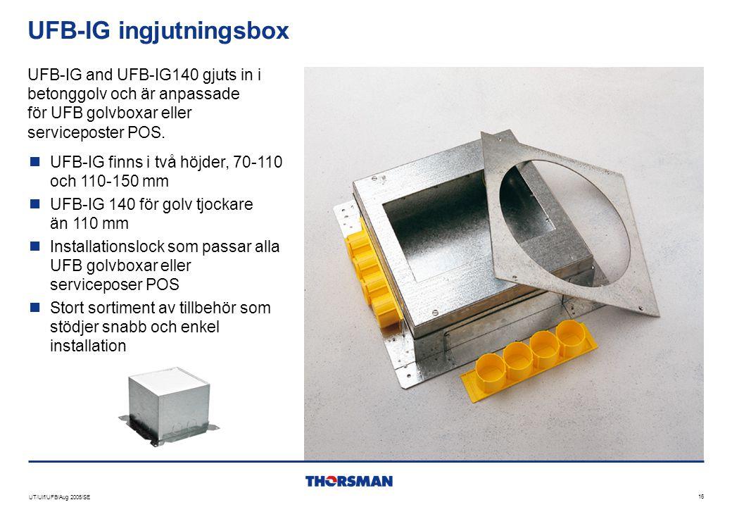 UFB-IG ingjutningsbox
