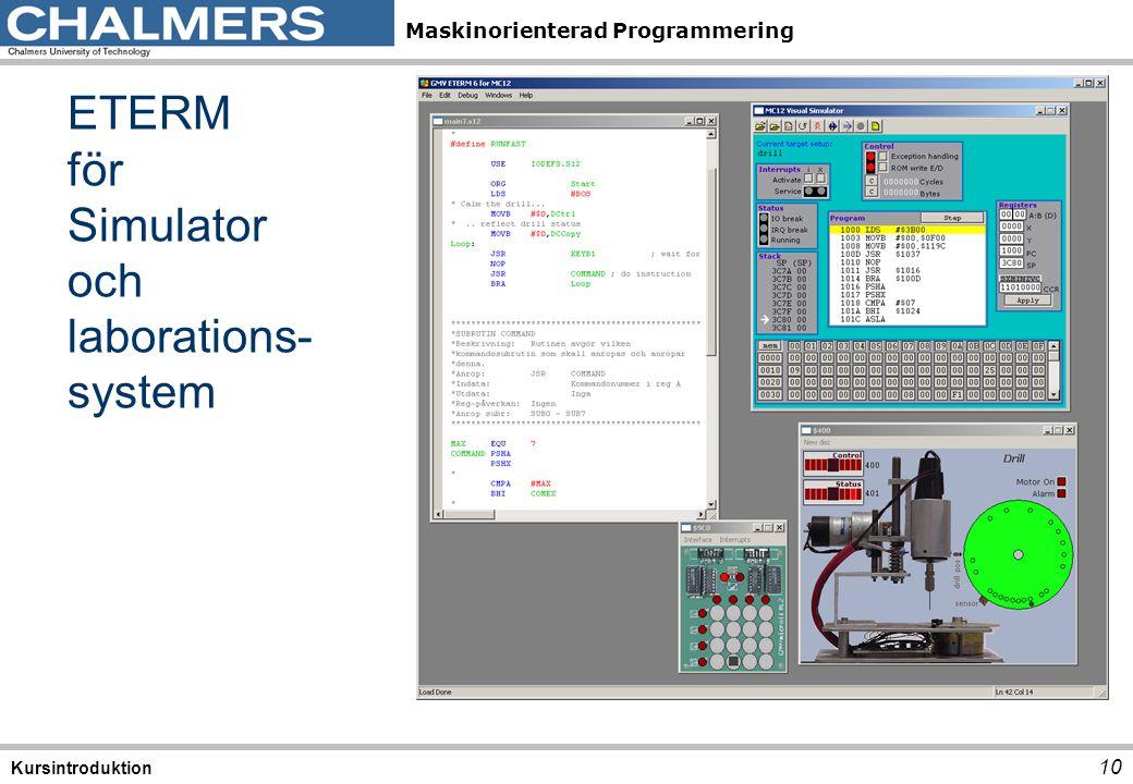 ETERM för Simulator och laborations-system