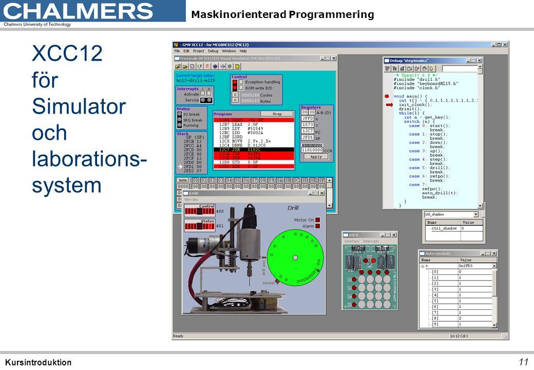 XCC12 för Simulator och laborations-system