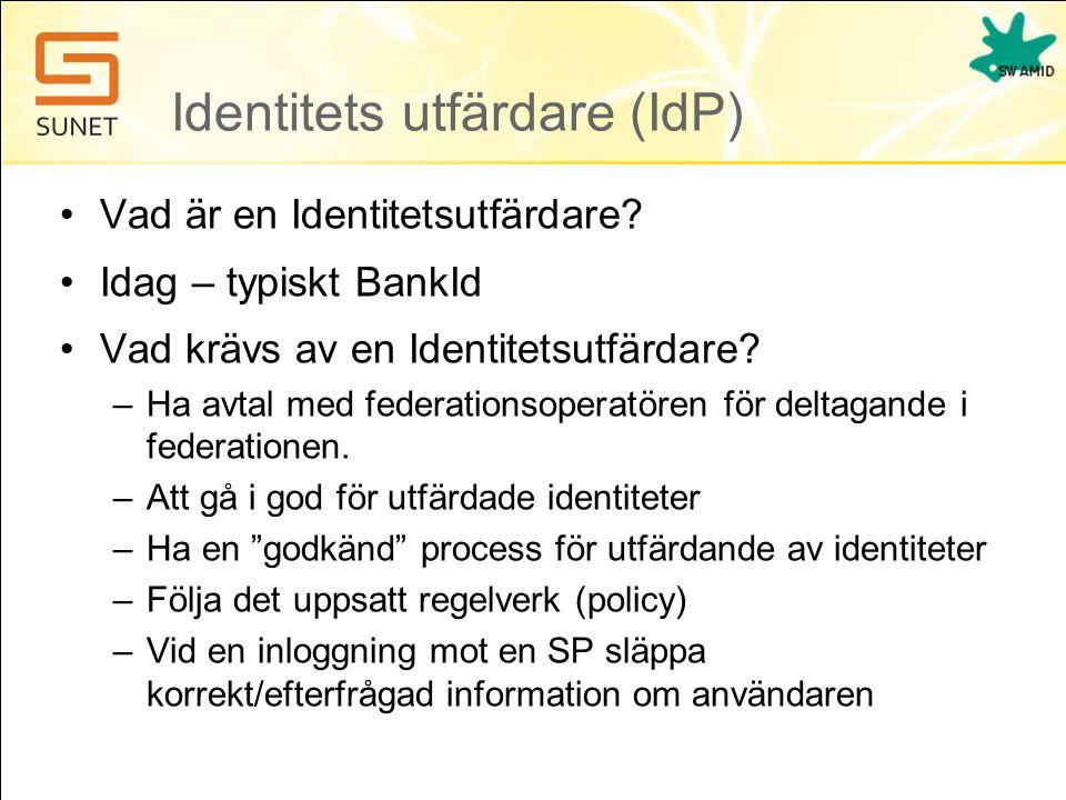 Identitets utfärdare (IdP)