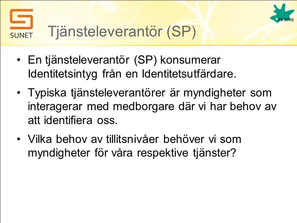 Tjänsteleverantör (SP)