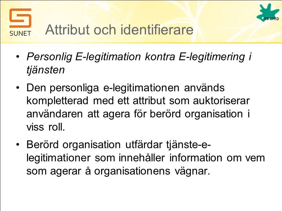 Attribut och identifierare
