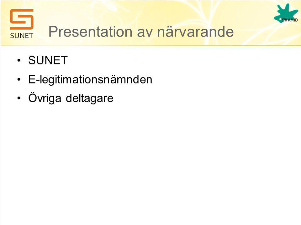Presentation av närvarande