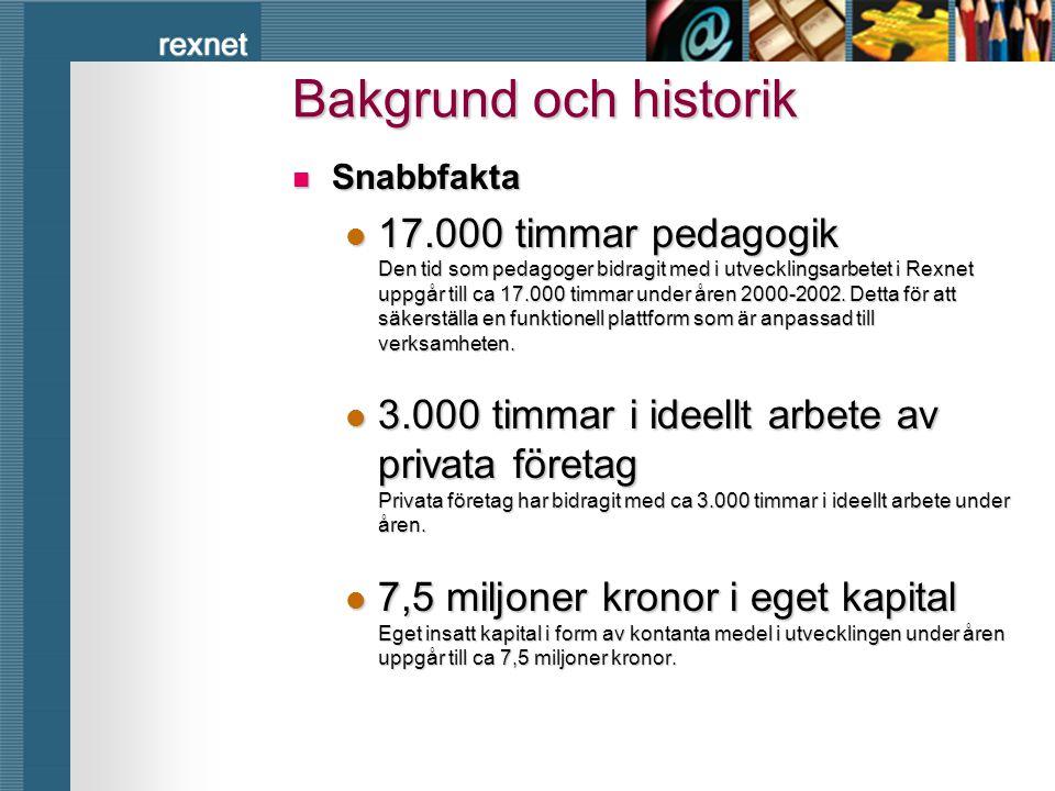Bakgrund och historik Snabbfakta.