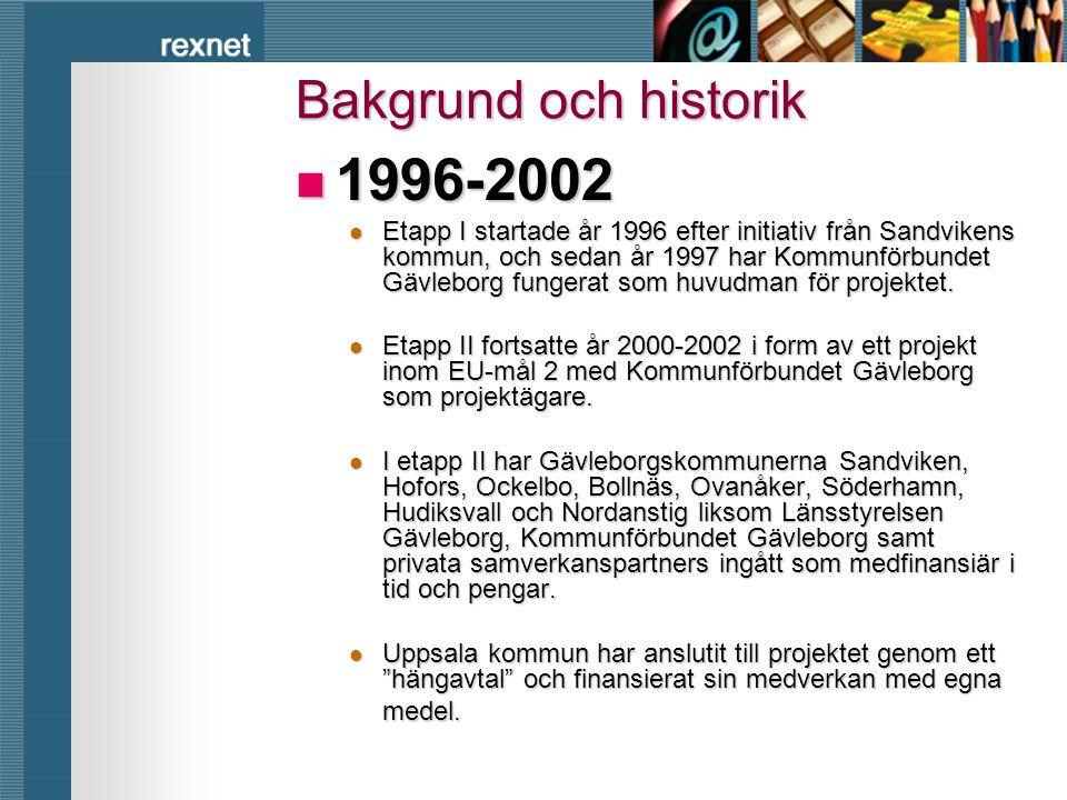 1996-2002 Bakgrund och historik
