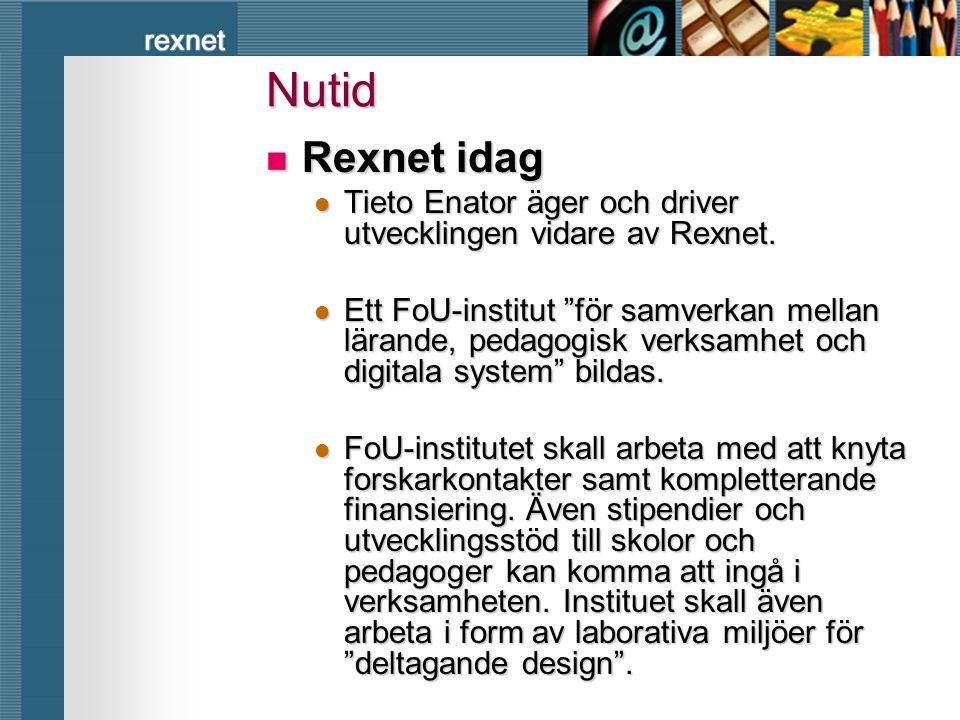 Nutid Rexnet idag. Tieto Enator äger och driver utvecklingen vidare av Rexnet.