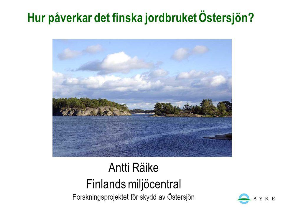 Hur påverkar det finska jordbruket Östersjön