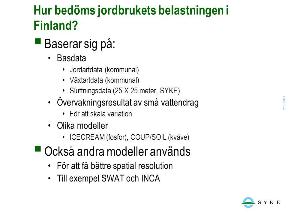 Hur bedöms jordbrukets belastningen i Finland
