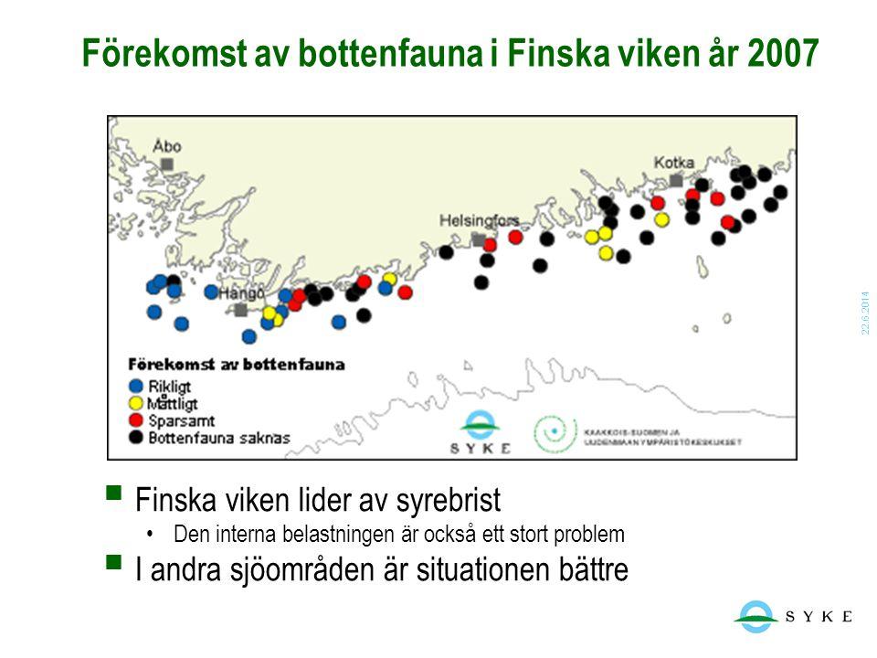 Förekomst av bottenfauna i Finska viken år 2007