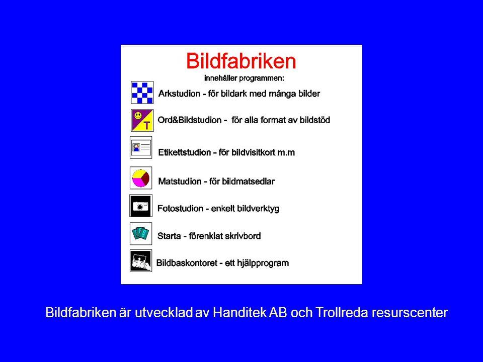 Bildfabriken är utvecklad av Handitek AB och Trollreda resurscenter