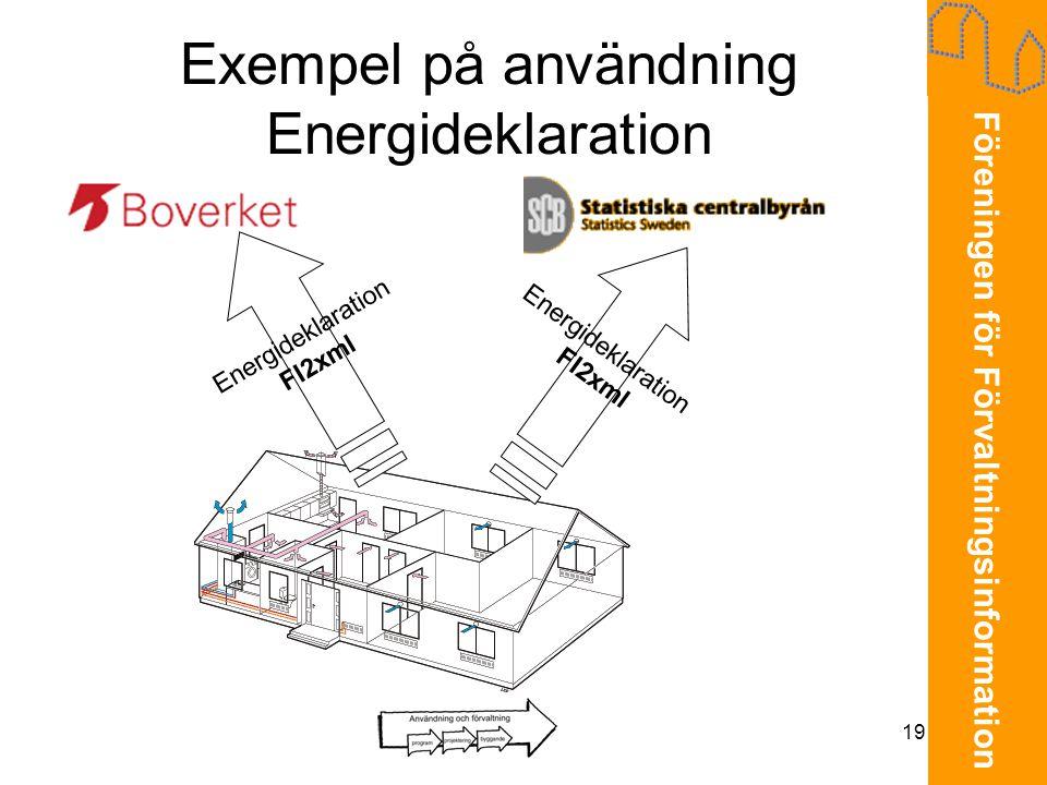 Exempel på användning Energideklaration