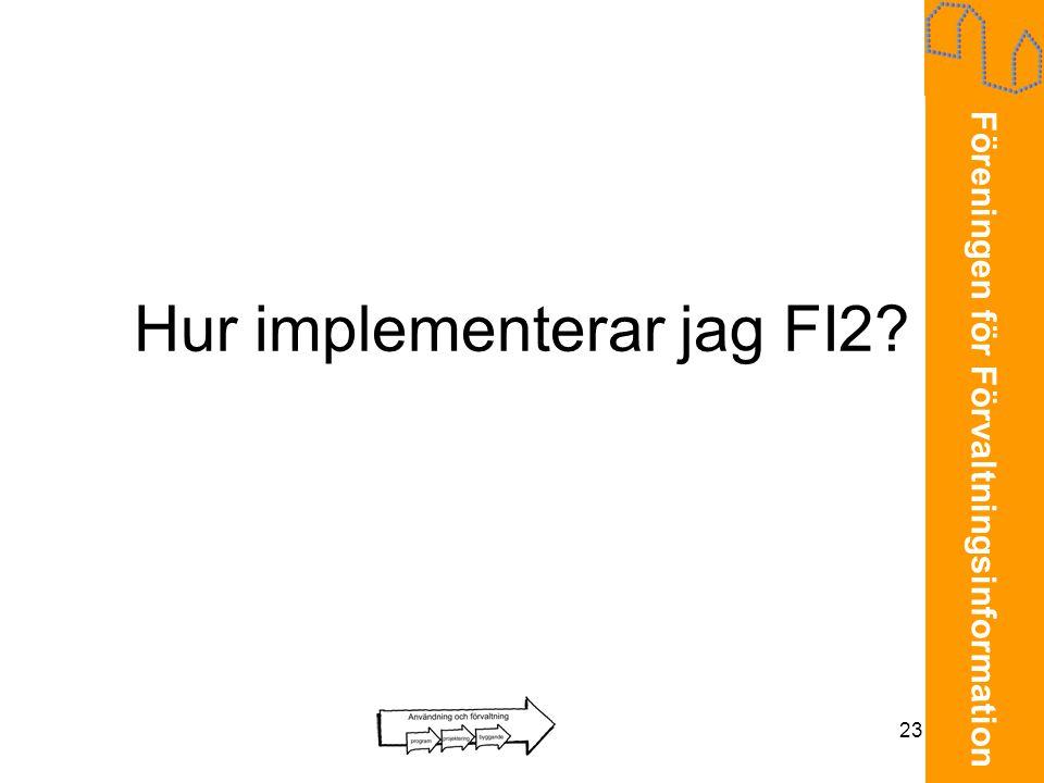 Hur implementerar jag FI2