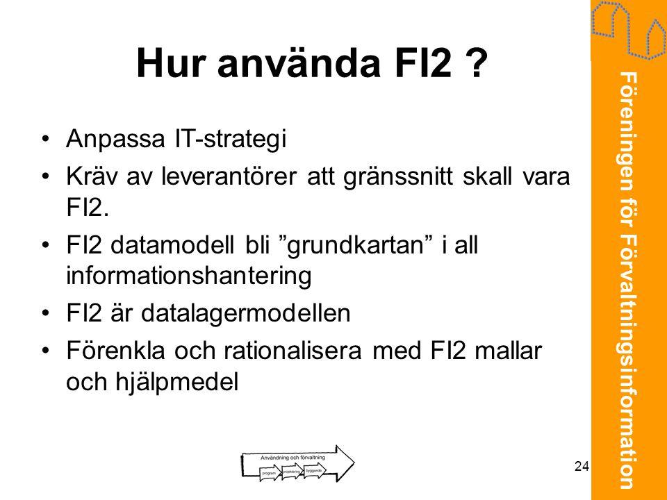 Hur använda FI2 Anpassa IT-strategi