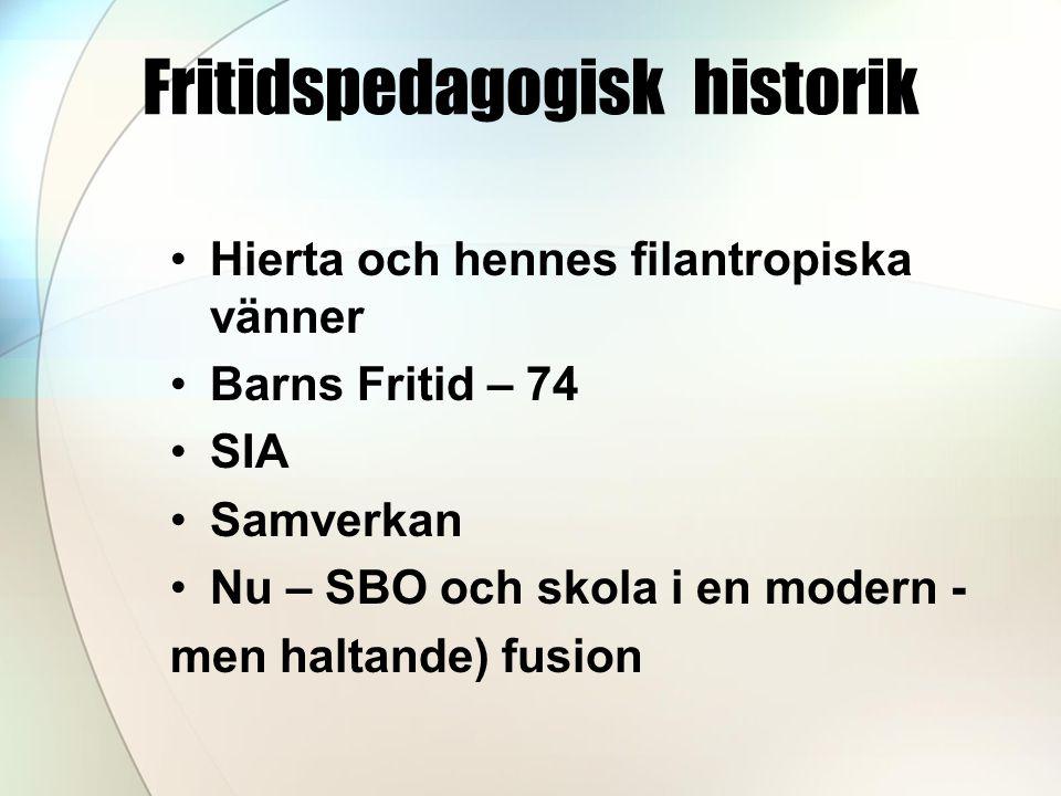 Fritidspedagogisk historik