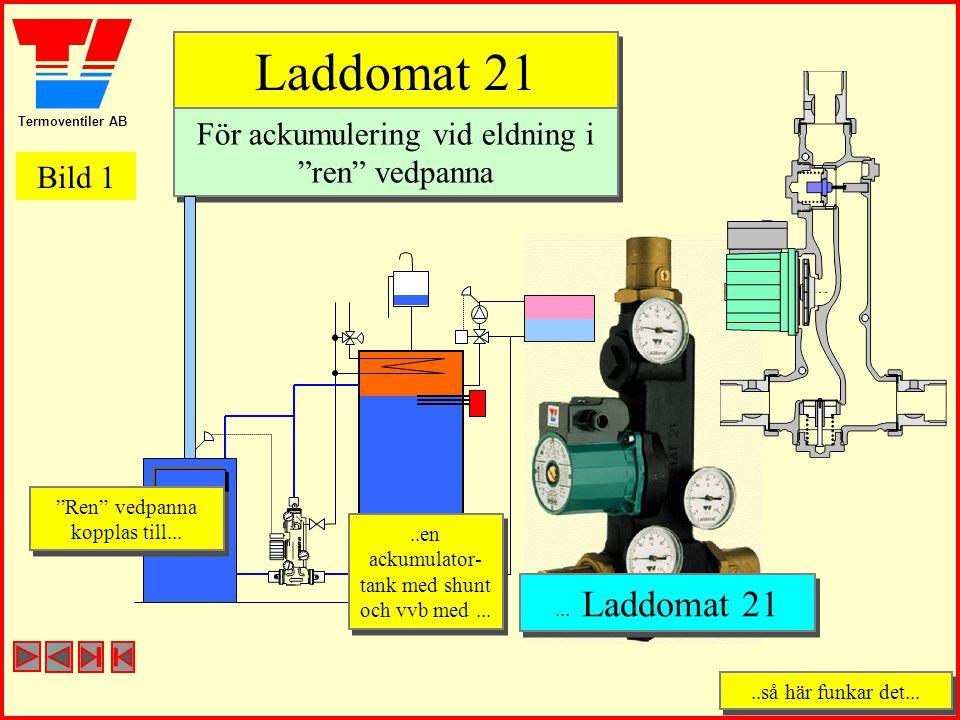 Laddomat 21 För ackumulering vid eldning i ren vedpanna Bild 1