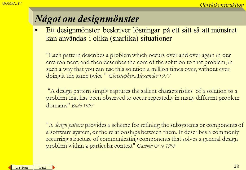 Något om designmönster