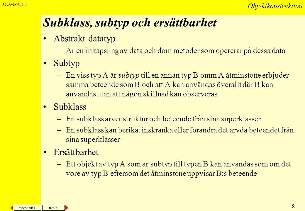 Subklass, subtyp och ersättbarhet