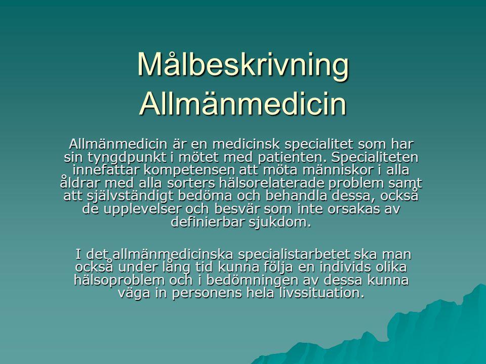 Målbeskrivning Allmänmedicin
