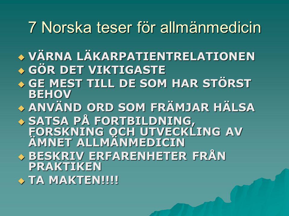7 Norska teser för allmänmedicin