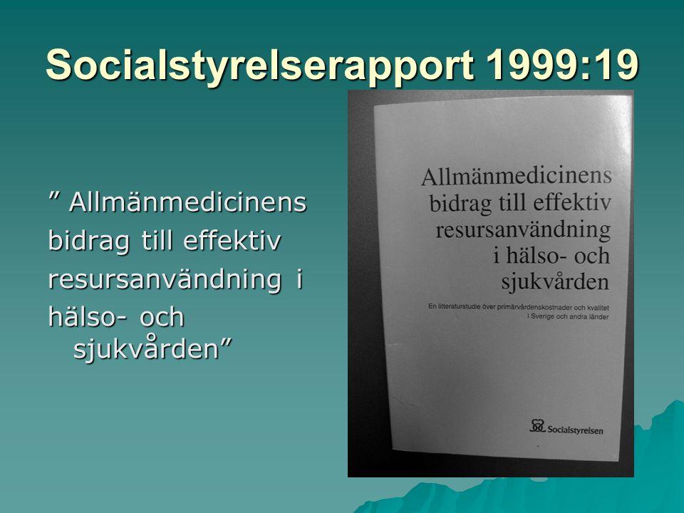 Socialstyrelserapport 1999:19
