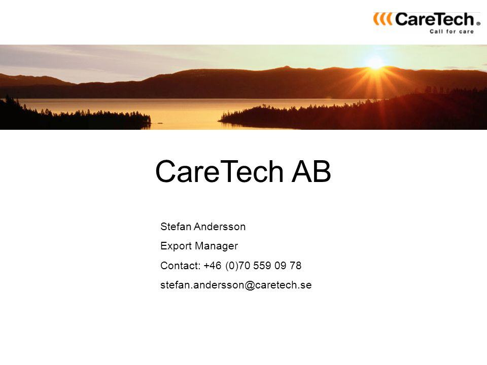 CareTech AB Stefan Andersson Export Manager