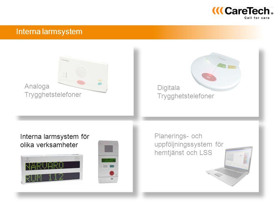Interna larmsystem Analoga Digitala Trygghetstelefoner