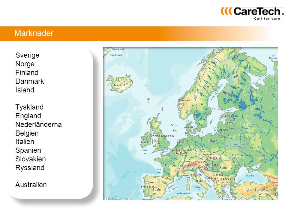 Marknader Sverige Norge Finland Danmark Island Tyskland England