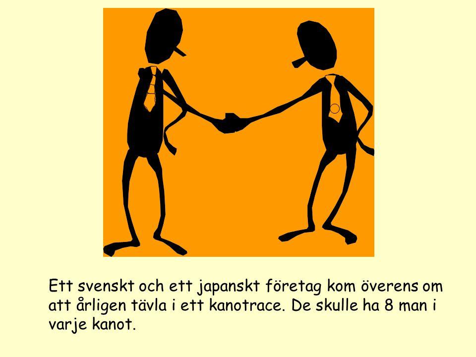 Ett svenskt och ett japanskt företag kom överens om att årligen tävla i ett kanotrace.