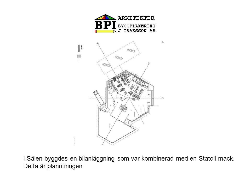 I Sälen byggdes en bilanläggning som var kombinerad med en Statoil-mack.