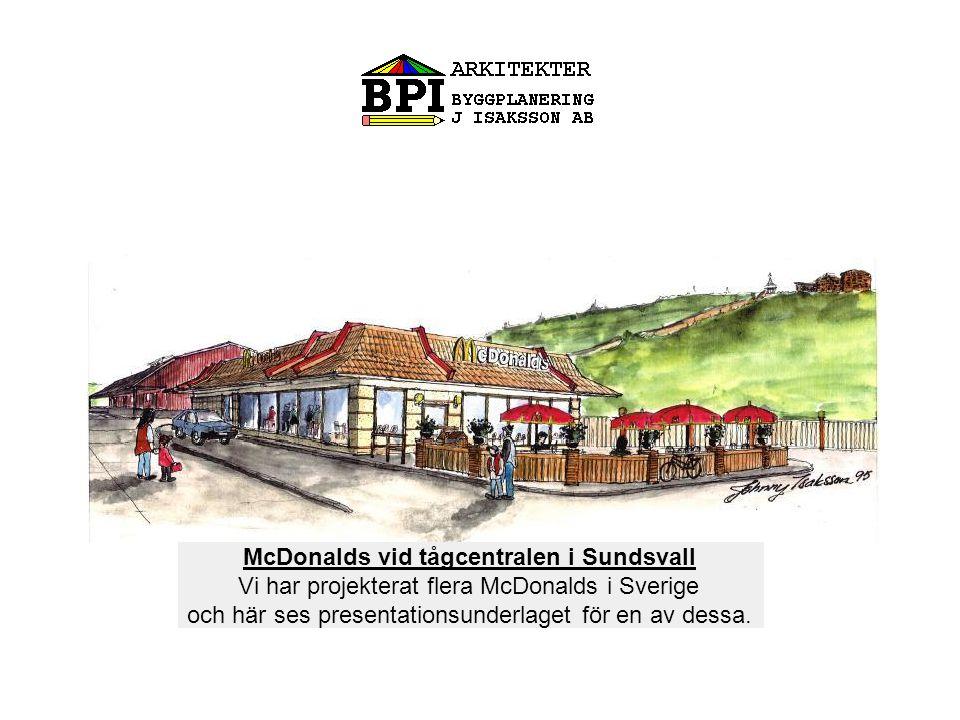 McDonalds vid tågcentralen i Sundsvall