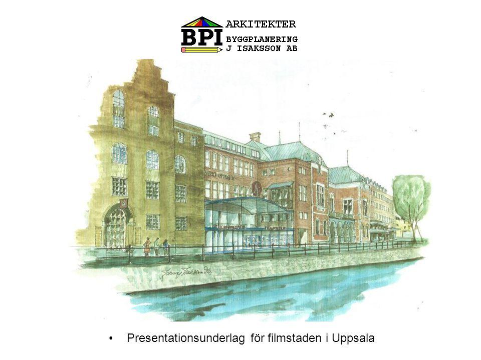 Presentationsunderlag för filmstaden i Uppsala