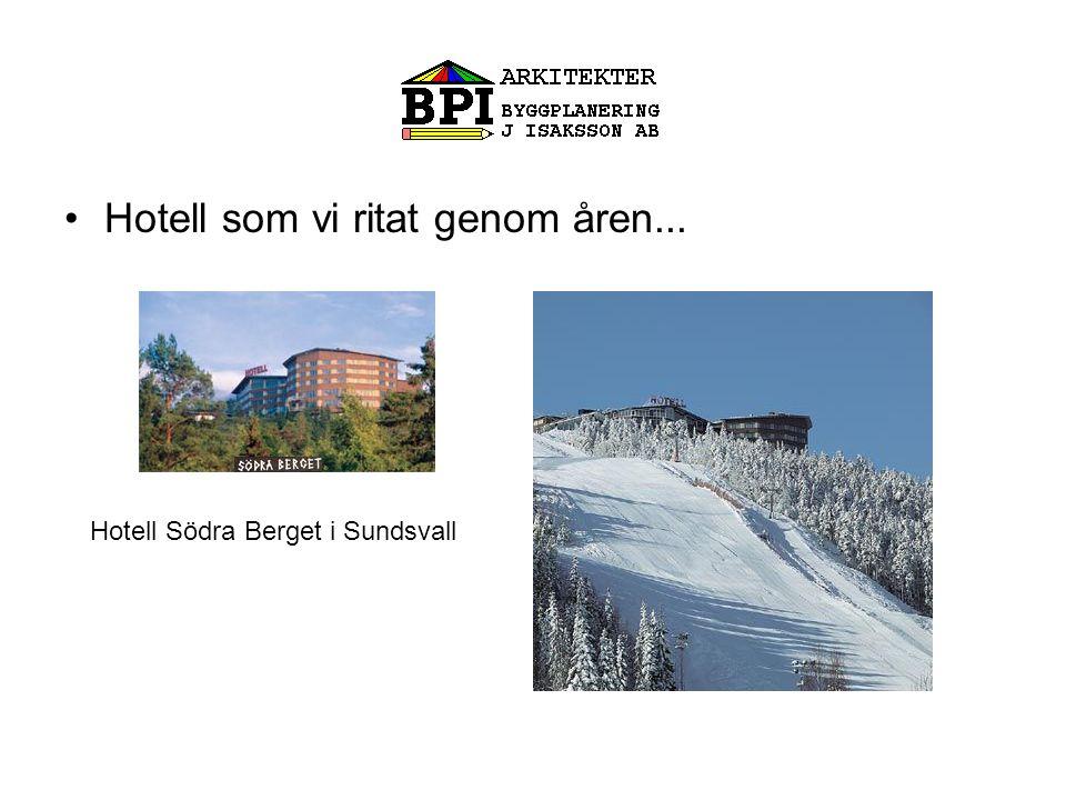 Hotell som vi ritat genom åren...