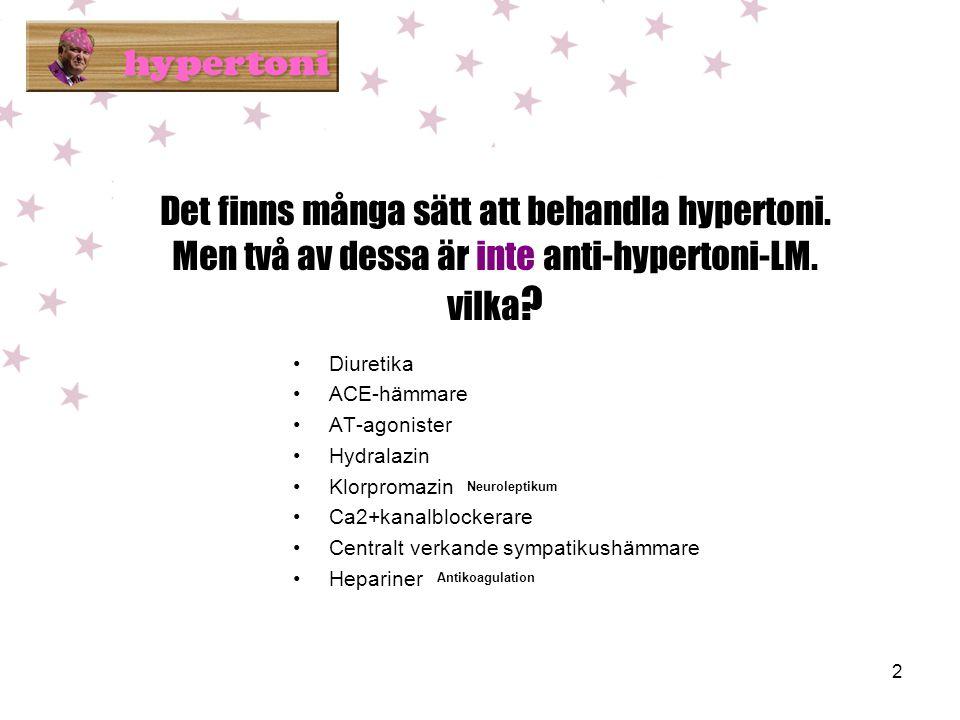 Det finns många sätt att behandla hypertoni