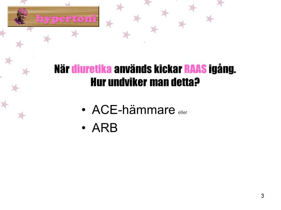 När diuretika används kickar RAAS igång. Hur undviker man detta