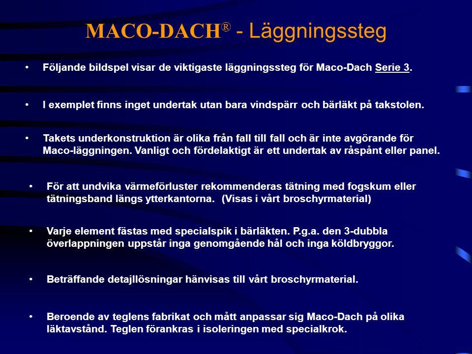 MACO-DACH® - Läggningssteg